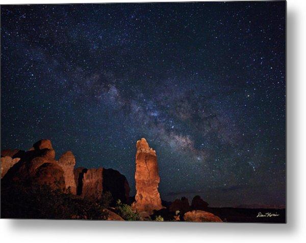 Milky Way Over Garden Of Eden Metal Print