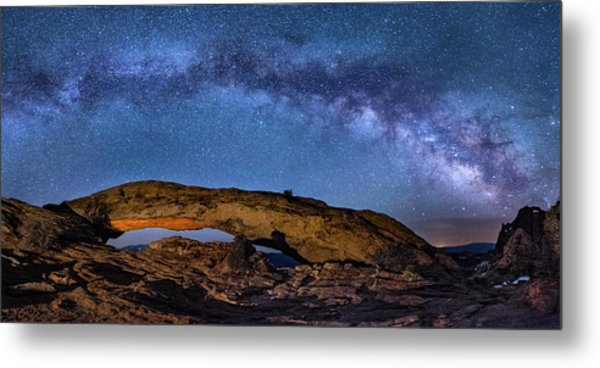 Milky Way Over Mesa Arch Metal Print