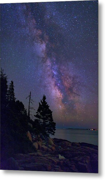 Milky Way Over Otter Point Metal Print