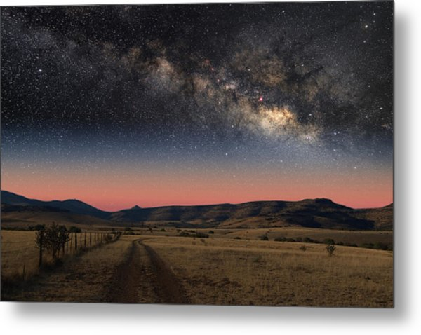 Milky Way Over Texas Metal Print