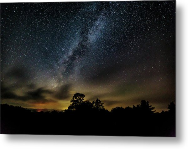 Milky Way Over The Blue Ridge Metal Print