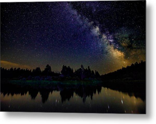 Milky Way Over The Deschutes River - 2 Metal Print
