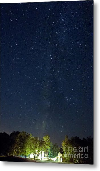 Milky Way Over Vic's Metal Print by Butch Lombardi