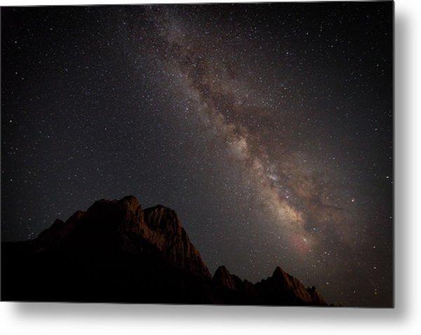 Milky Way Over Zion Metal Print