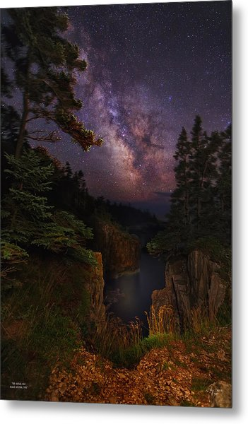 Milky Way Rising Over The Raven's Roost Metal Print