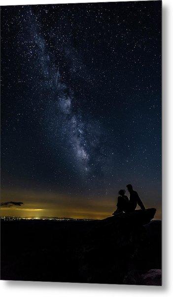 Milky Way Viewed From Rough Ridge Metal Print