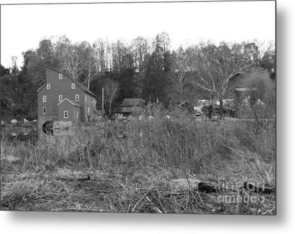 Mill At Clinton Among The Reeds Metal Print