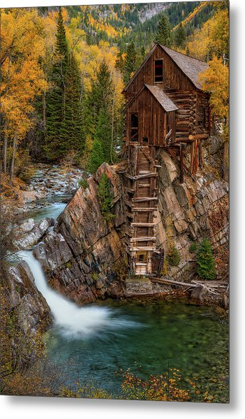 Mill In The Mountains Metal Print