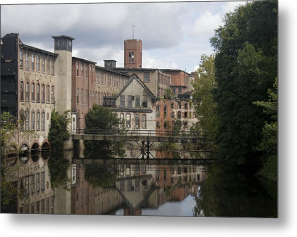 Mill Reflection Metal Print by Jeff Porter