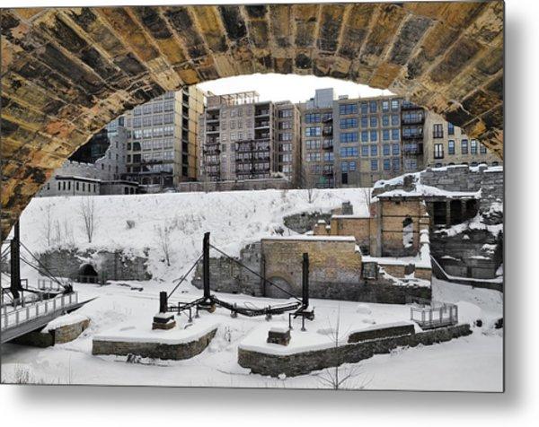 Mill Ruins Park Winter Metal Print