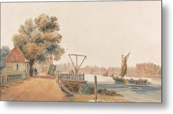Millbank By David Cox, Circa 1810 Metal Print