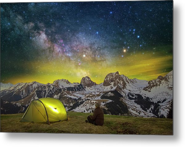 Million Star Hotel Metal Print