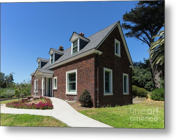 Millwright's Cottage At The Murphy Windmill San Francisco Golden Gate Park San Francisco Ca Dsc6346 Metal Print