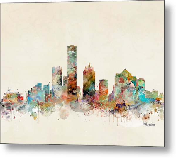 Milwaukee City Skyline Metal Print