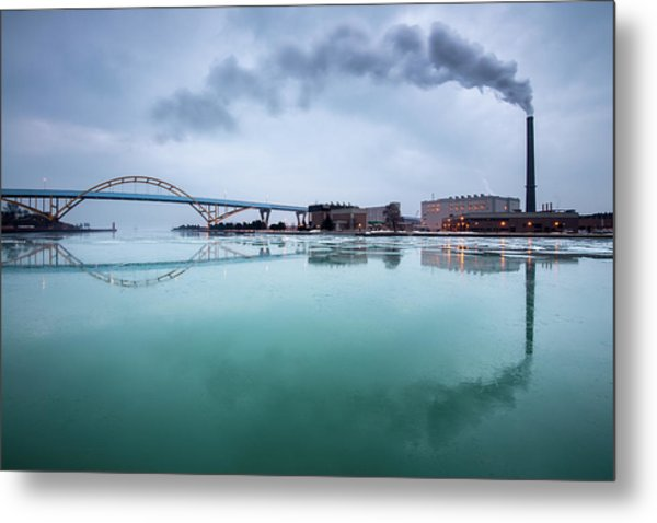 Milwaukee Reflected Metal Print