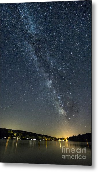 Milky Way From A Pontoon Boat Metal Print
