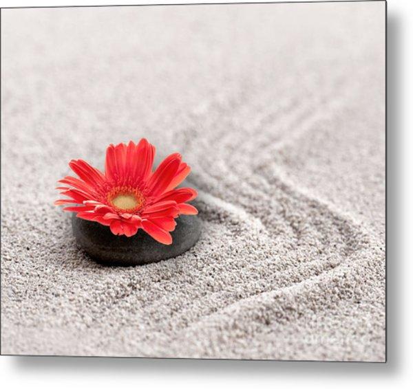 Mineral Flower Metal Print