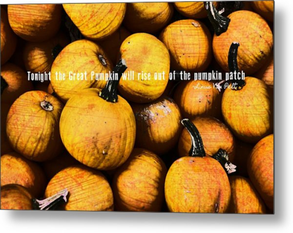 Mini Pumpkin Patch Quote Metal Print by JAMART Photography