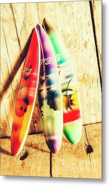 Miniature Surfboard Decorations Metal Print