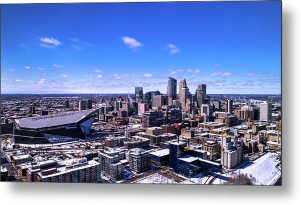 Minneapolis Skyline On A Sunny Day Metal Print