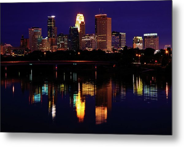 Minneapolis Twilight Metal Print