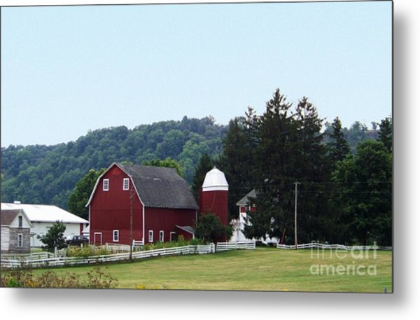 Minnesota Barn Metal Print