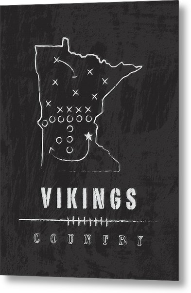 Minnesota Vikings Art - Nfl Football Wall Print Metal Print