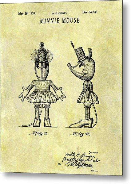 Minnie Mouse Design Metal Print