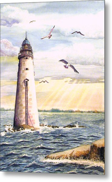Minot Lighthouse Or The I Love You Lighthouse Metal Print
