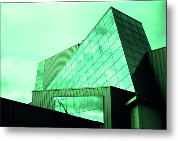 Mirror Building 3 Metal Print