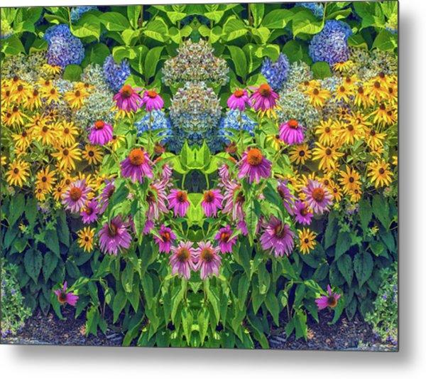 Flowers Pareidolia Metal Print