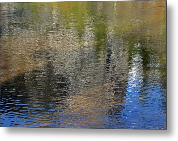 Mirror Lake Reflections 04 13 Metal Print by Walter Fahmy