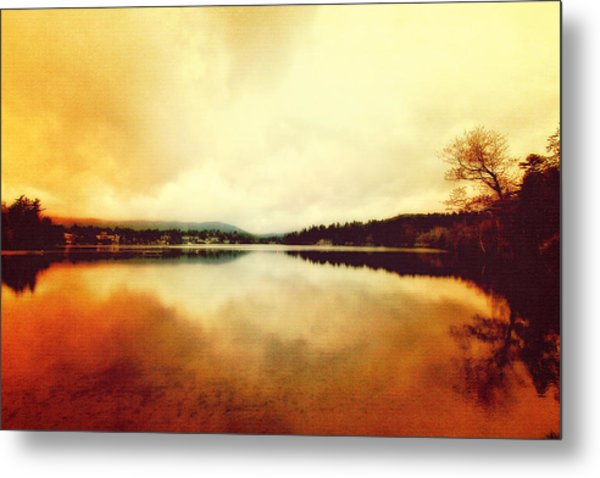 Mirror Lake At Sunset Metal Print