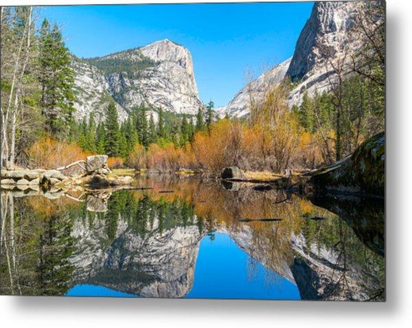 Mirror Lake Yosemite Np Metal Print