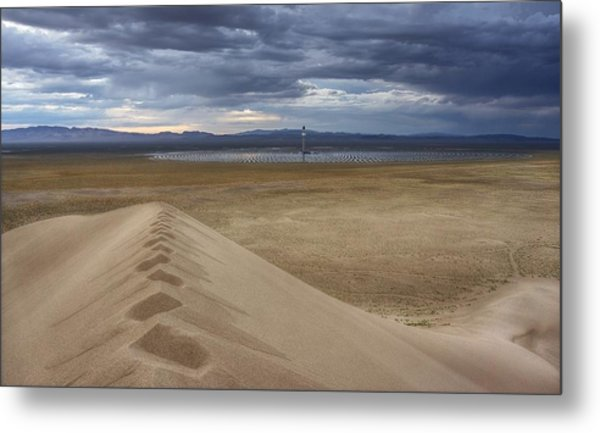 Mirror Mirror In The Desert Who Is The Smartest Of Them All Metal Print