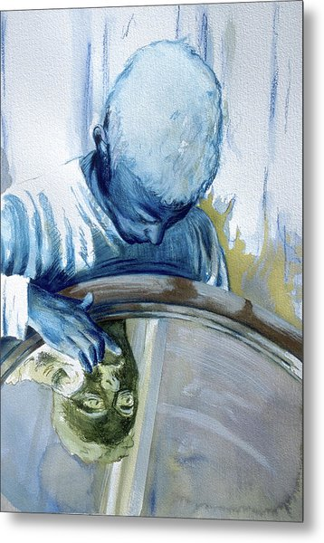 Metal Print featuring the painting Mirror Mirror by Rene Capone