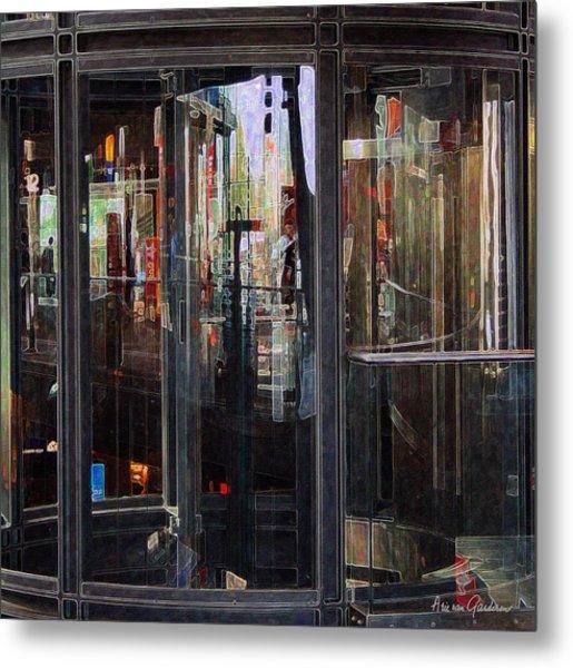 Mirroring The Elevatorshaft Metal Print by Arie Van Garderen