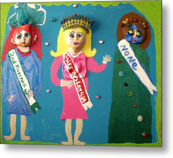 Miss Bo Leg Usa Metal Print by Betty  Roberts