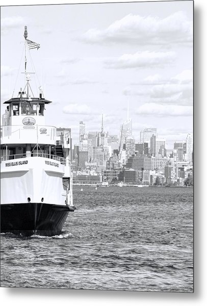 Miss Ellis Island Metal Print