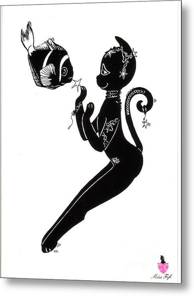 Miss Fifi Ocean Frienship Metal Print by Silvia  Duran