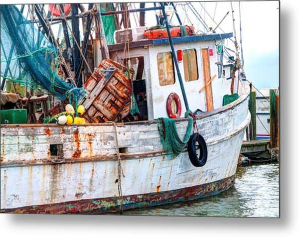 Miss Hale Shrimp Boat - Side Metal Print
