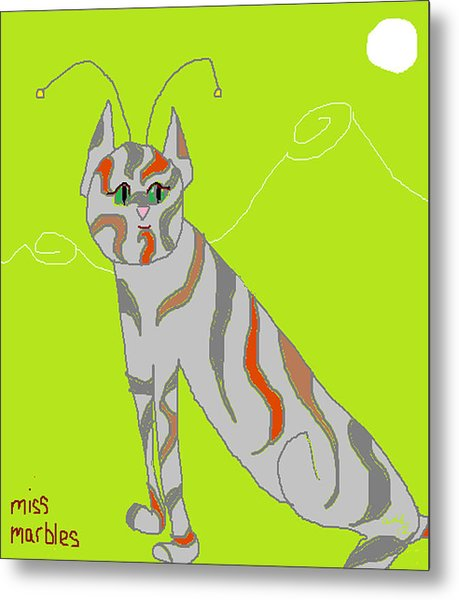 Miss Marbles My Favorite Martian Metal Print