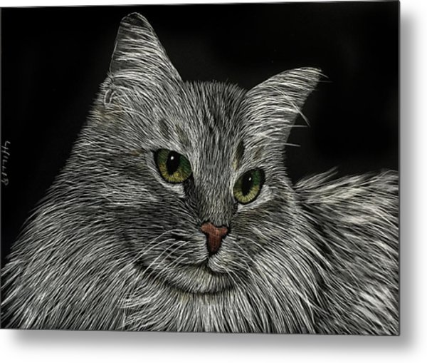 Miss Priss Metal Print