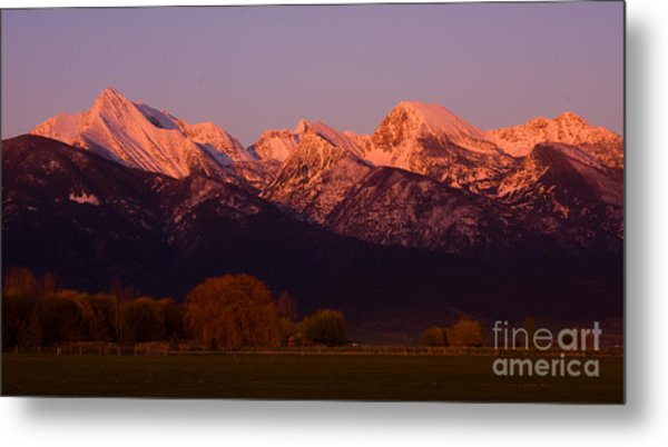 Mission Alpenglow Metal Print