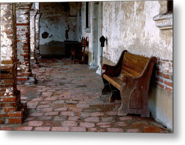 Mission Bench Metal Print