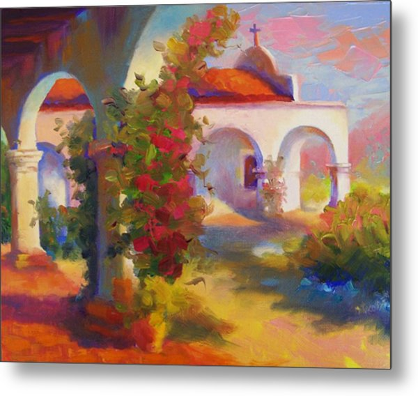 Mission Capistrano Metal Print by Maryanne  Jacobsen