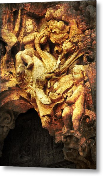 Mission Cherubs Metal Print