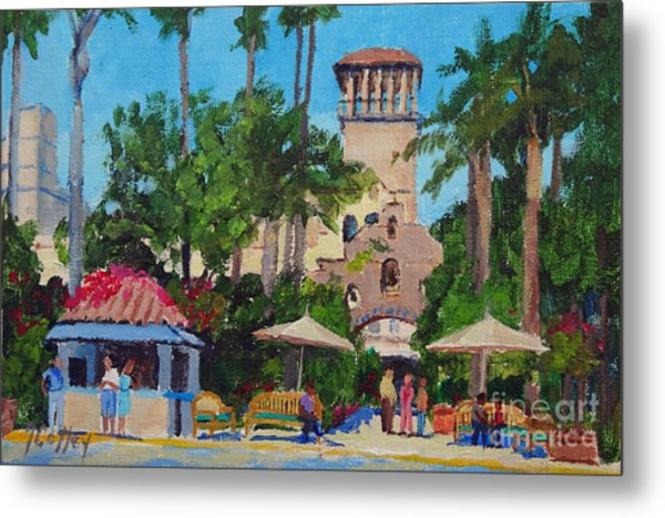 Mission Inn On A Sunny Day Metal Print