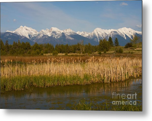 Mission Mountain Glory Metal Print