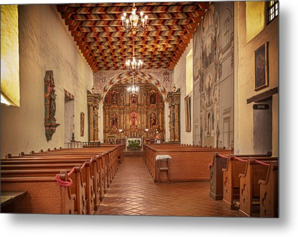 Metal Print featuring the photograph Mission San Francisco De Asis Interior by Susan Rissi Tregoning